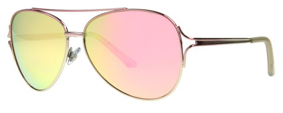 Foster Grant sunglasses yellow with pink colored lenses